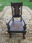 Szecessziós fa gyermek szék az 1910-es évekből hibátlan
