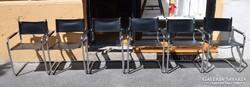 Csővázas króm műbőr irodai székek. 6 db.
