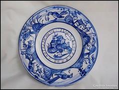 1698 antik tányér másolat , falitányér