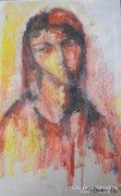 Női portré festmény