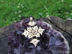 Régi csipkés-bogyós 925 ezüstmedál ezüst medál