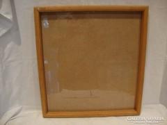 Üvegezett fa képkeret falc 44x41 cm