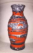 Piros-szürke kerámia váza/padlóváza