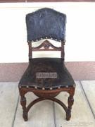 Antik bútor, Bécsibarokk bőrözött szék 02.