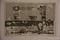 Szemethy Imre: Oxygén 19/25 (rézkarc, 1978)