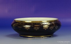 0H192 Régi kobaltkék Altwien porcelán gyűrűtartó