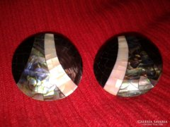 Paua páva kagyló fülbevaló klipsz női abalone ékszer