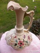 Antik fajansz kancsó, váza 37 cm