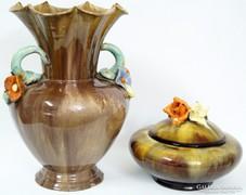 Komlós kerámia váza és bonbonier egyben