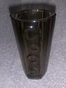 Retro füst színű üveg váza (kszp)