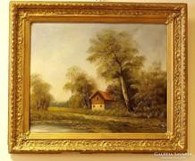 19.sz-i tájkép,ismeretlen festő