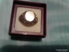 Szép ezüst pecsét gyűrű