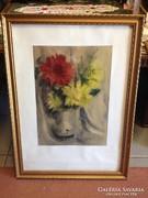 Szignált ( akvarell ) festmény eladó
