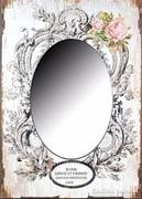 ÚJ!! Meseszép barokk mintás, rózsás falitükör 50x70