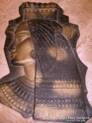 Fáraó fej fém falikép 28 X20 cm -es