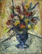 Drégelyi jelzéssel : Virágcsendélet