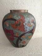 Szecessziós réz zománcozott váza (54)