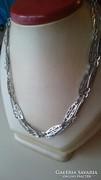 Gyönyörű régi hosszú dekoratív ezüst nyaklánc (80cm)
