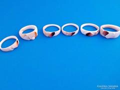 6 db. kagylóból faragott gyűrű