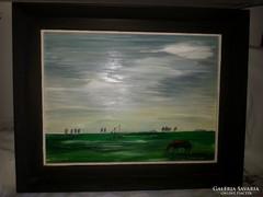 keretezett olaj festmény  Szántó L szignóval