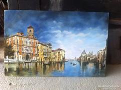 Velence festmény, tájkép