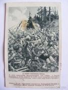 I. VILÁGHÁBORÚS CSATAKÉPES KÁRTYA - 1915!