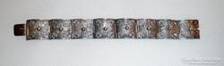 Antik ezüst filigrán karkötő