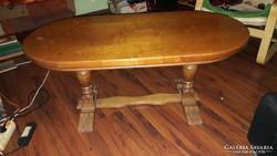 Fülöp Lajos korabeli utánzat, cseresznyefa ovális asztal