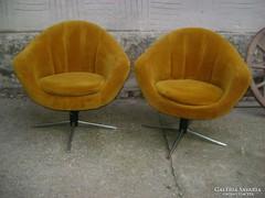 Retro forgós fotel, karosszék párban eladó