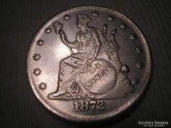 USA 1872 nagyméretű emlékveret TRADE DOLLÁR /5./
