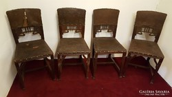 4db antik szecessziós szék.