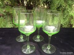 4db talpas,zöld Boros pohár