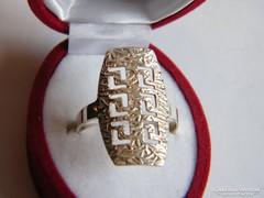 Görög mintás,925-ös ezüst gyűrű