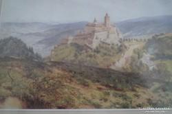 Benesch, Ladislaus von (1845-1922) 32xn23 cm akvarell kép