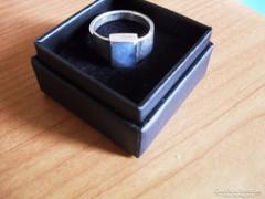 Ezüst gyűrű labradorittal