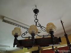 Kovácsoltvas -fa mennyezeti lámpa eladó