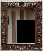 Florentin faragott fa keretű tükör