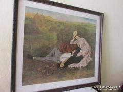 Szinyei Merse Pál híres festményének reprodukciója