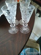Kristály pohár 4db