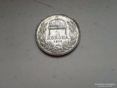 1915 ezüst 1 korona patina szép db
