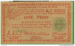 ONE PESO 1944 PHILIPPINES/GERILLA PÉNZ!/