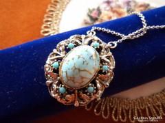 Bizsu medalion ezüst lánccal _ Csodaszép