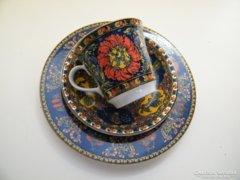 Különleges Bopla svájci porcelán reggelizőkészlet 3 db-os