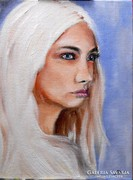 Női portré- olajfestmény