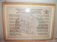 Antik térkép a régi Magyarországról eladó!