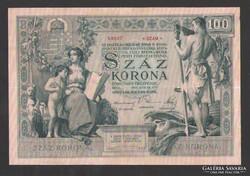 100 korona 1902. EXTRA SZÉP !!!
