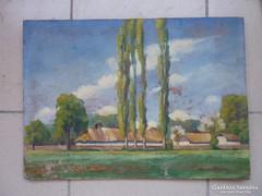 Ibos Károly: Falusi ház fákkal, 1925