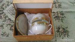 Jamasen, Japán aranyozott porceláncsészék alátéttel