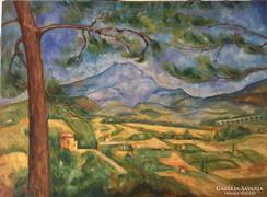 Paul Cezanne képéről másolat - reproduction of Cezanne