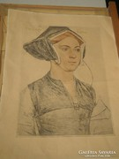 Hans Holbein: Lady Lister